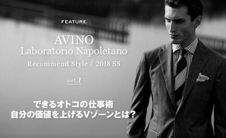 「AVINO Laboratorio Napoletano」2018SSのスタイリング、 B.R.ONLINEにて公開中