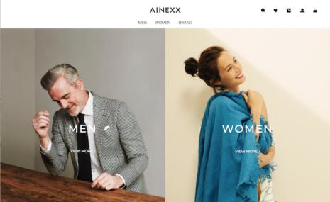 上質な厳選アイテムを展開するオンラインストア「AINEXX ONLINE」3月 16 日(月)オープン