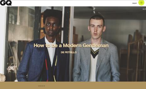 『モダンブリティッシュを捕獲せよ︕ ── デ ペトリロのジャケット&スーツが熱い』GQ JAPANにて公開中
